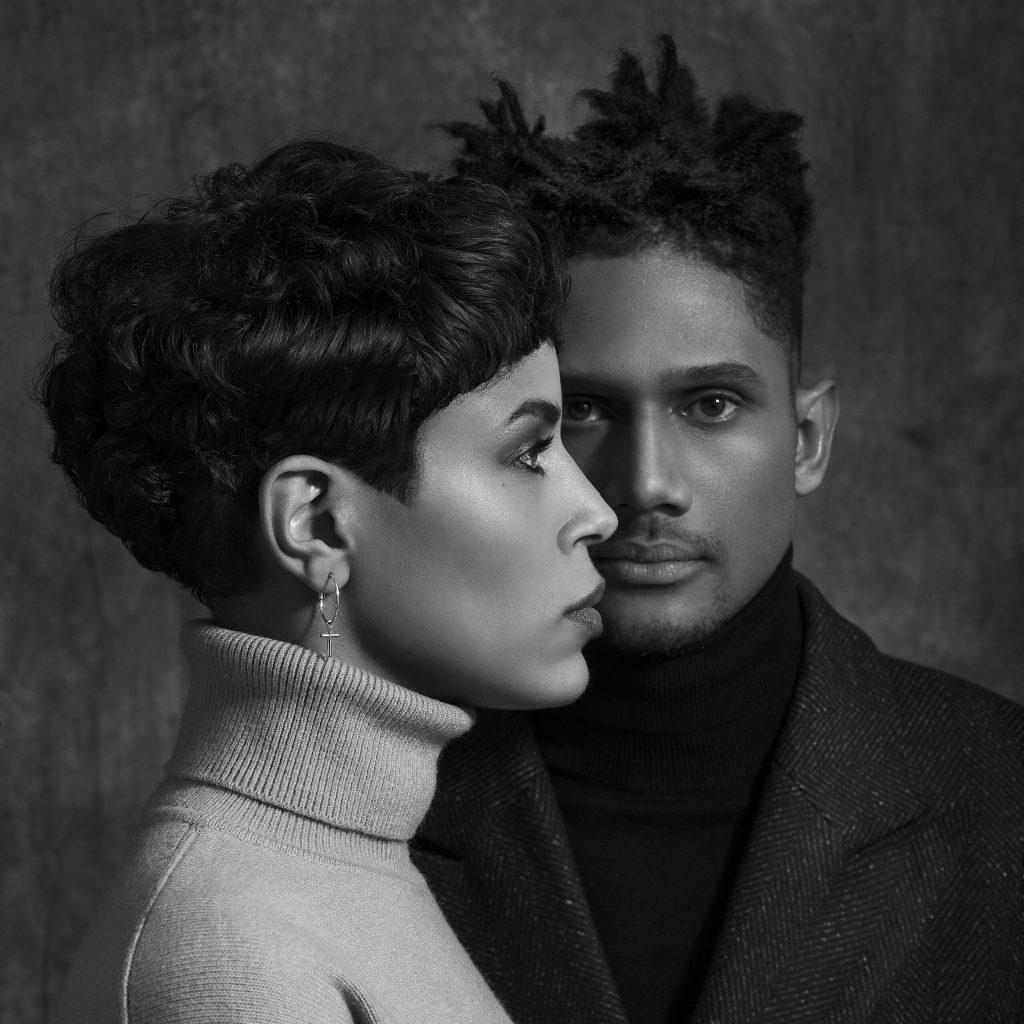 Laura Prince et Grégory Priivat portrait noir et blanc par Olivier D'almeida